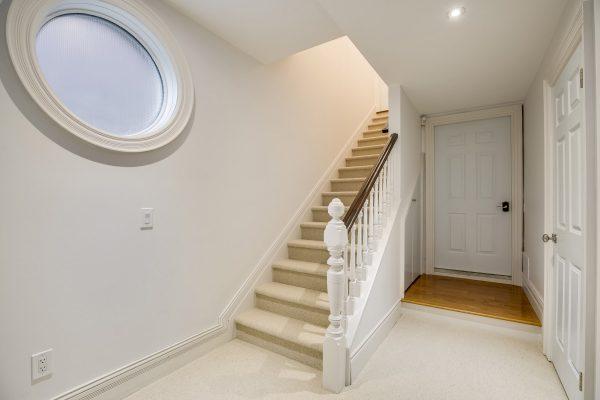 finsihed basement entrance