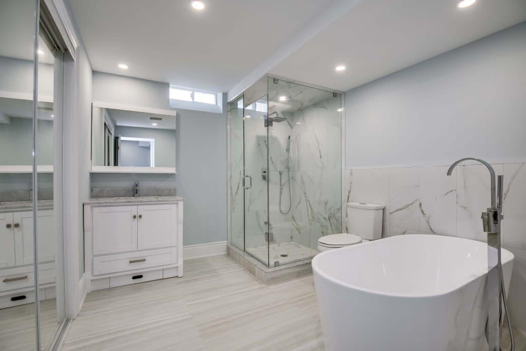 bathroom basement renovation