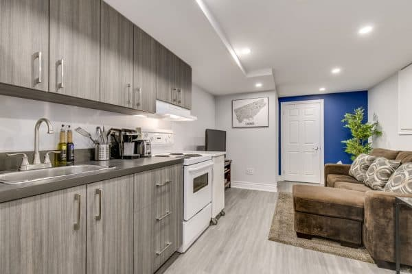 renovated basement in Toronto