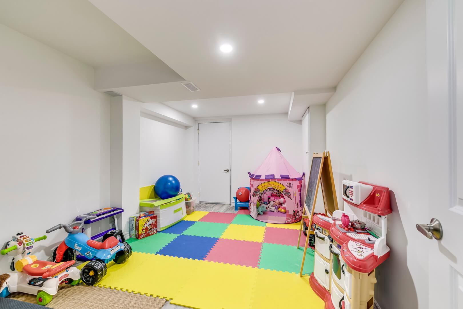 room for children in basement